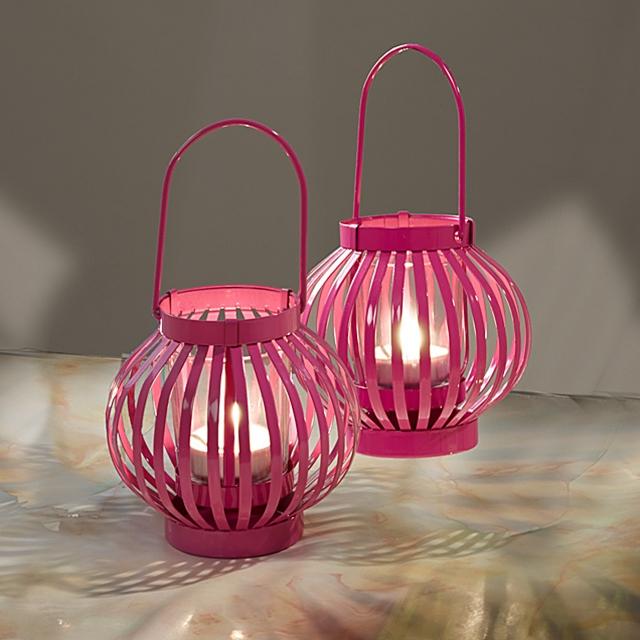 Windlichter Pink-Style 2er Set