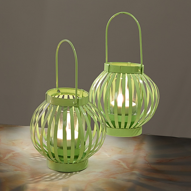 Windlichter Green-Style 2er Set