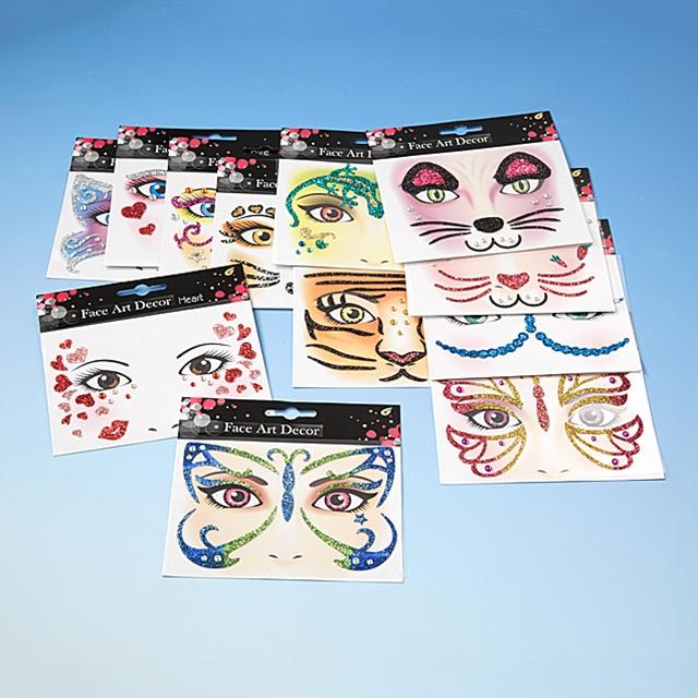 Face Art Stickers 12 Stk.