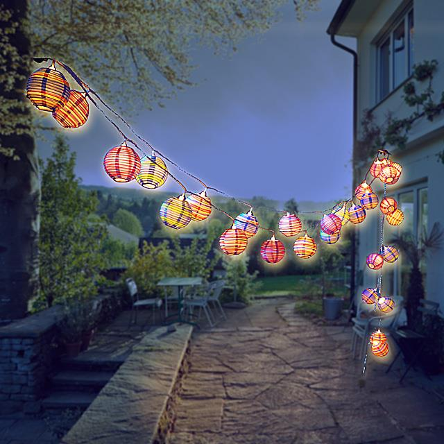 Lampion Lichterkette LED Modern Color