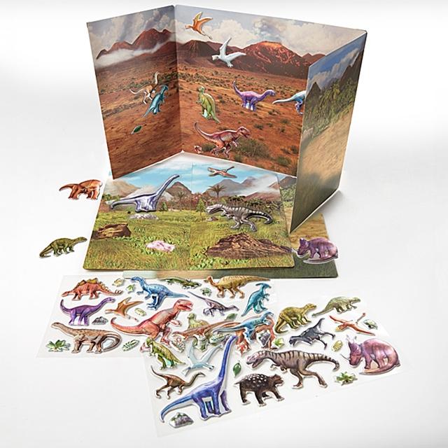3D Stickers Dinosaurier 90 Stk.
