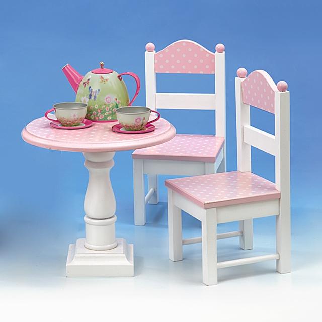 Tisch und Stühle für Puppe 3tlg.