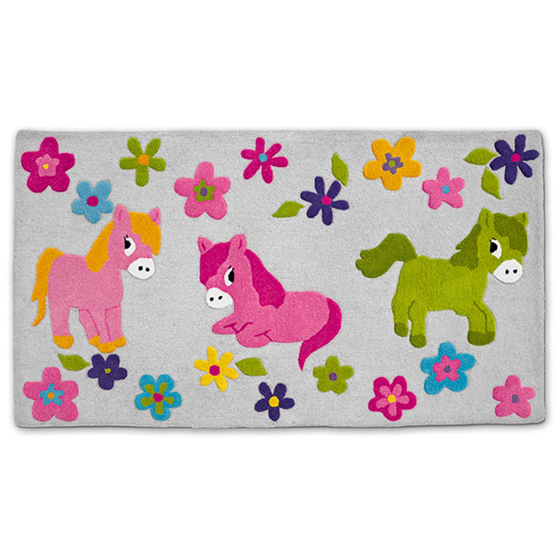 Kinderteppich Pony Lolly und Polly 90 x 160 cm