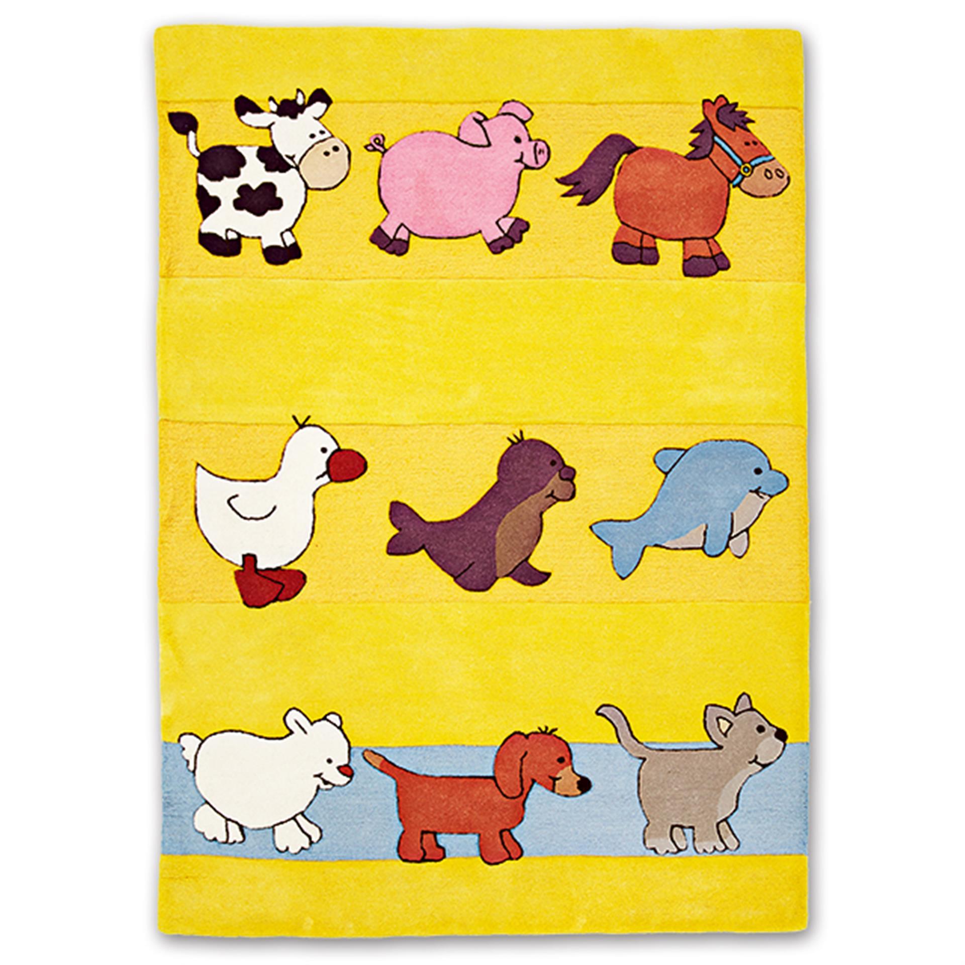 Kinderteppich Tiere XL 160 x 230 cm