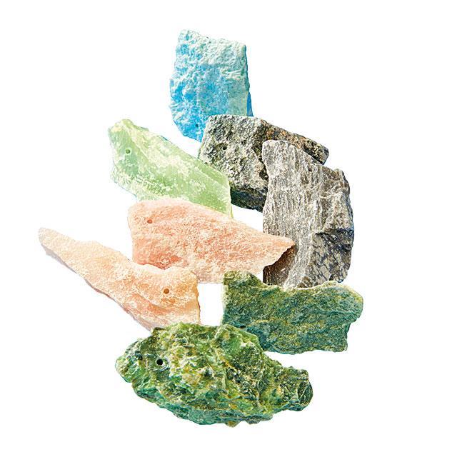 Bruchstücke Speckstein assortiert 1 kg