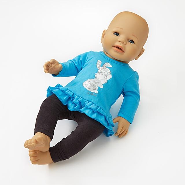 Puppenkleid Häschen Hoppel 2tlg. BL