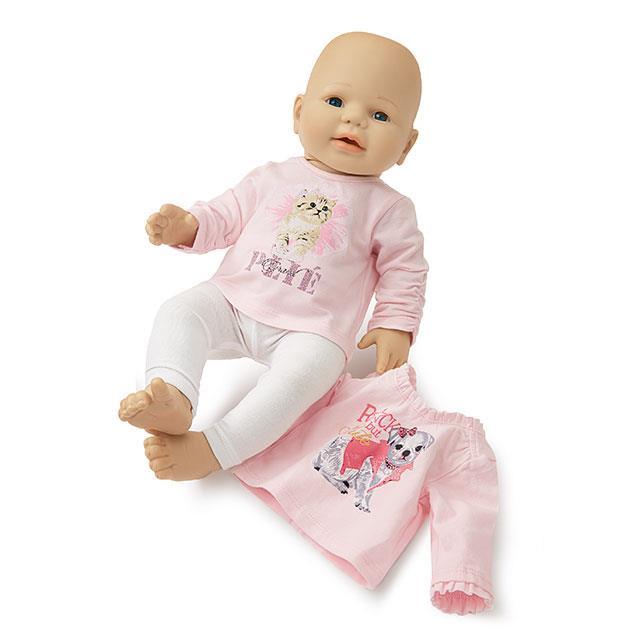 Puppenkleid Rosa Zauber 3tlg. BL